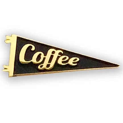 BBR Coffee Gold Plated Enamel Pennant Pin