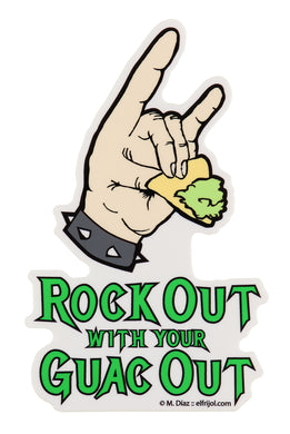 FMD rock out guac out sticker
