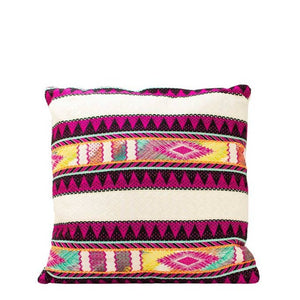 VTA Fuschia Accented Jacquard Pillow Cover -  - Home Decor - Feliz Modern