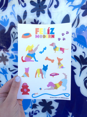 FMD Otomi Dog Sticker Sheet -  - Sticker - Feliz Modern