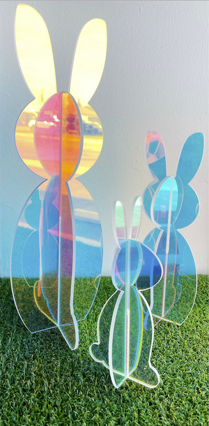 KAC Acrylic Bunnies -Iridescent (in-store or curbside only) -  - Easter - Feliz Modern