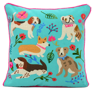 KLC Dogs Meeting Cushion (pickup or in-store only) -  - Home Decor - Feliz Modern