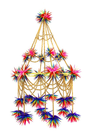 CFC Rainbow Beaded Pajaki Chandelier (curbside only, no shipping) -  -  - Feliz Modern