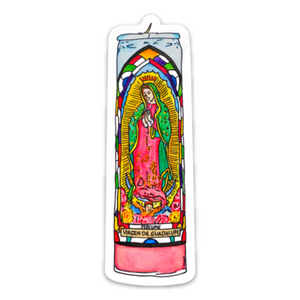 NAT Virgen Candle Sticker -  - Sticker - Feliz Modern