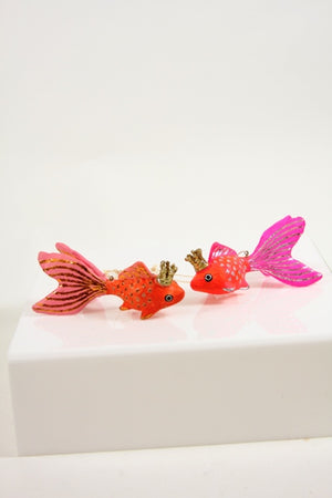CFC Pink Crowned Fish Ornament -  - Ornament - Feliz Modern