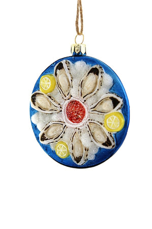 CFC Plate of Oysters Ornament -  - Ornament - Feliz Modern