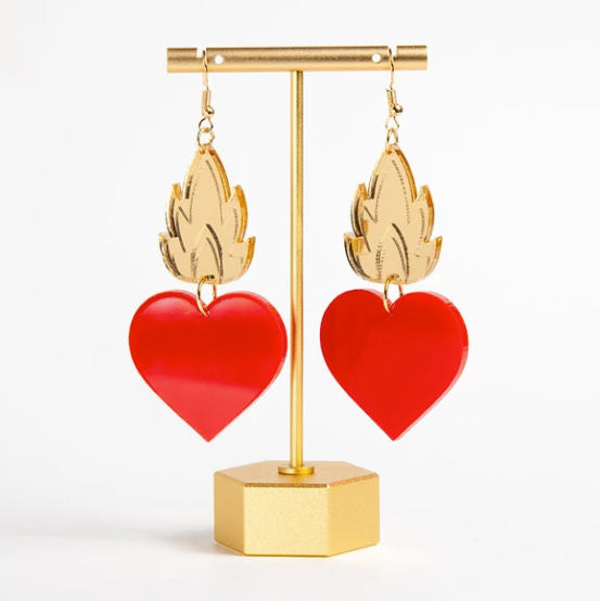 SEB Sacred Heart in Color Earrings