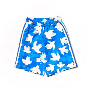 NAZ* Blue Doves Bermuda Kids Shorts -  - Kids Clothing - Feliz Modern