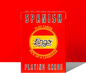 LNG Lingo Playing Cards -Spanish -  - Game - Feliz Modern