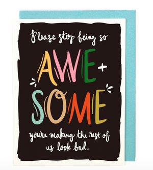 LILO Stop Being Awesome Card -  - Card - Feliz Modern