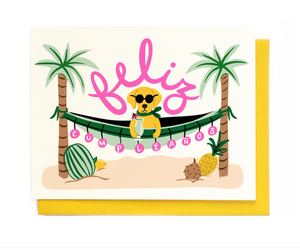 LILO Beachy Birthday Card -  - Card - Feliz Modern