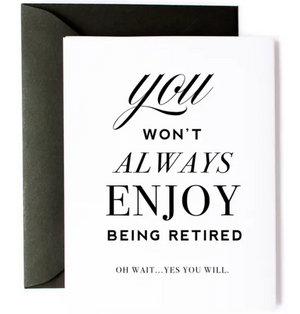KMB Enjoy Retirement Card -  - Card - Feliz Modern