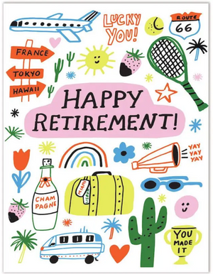 TFND Happy Retirement Yay Yay Yay Card -  - Card - Feliz Modern