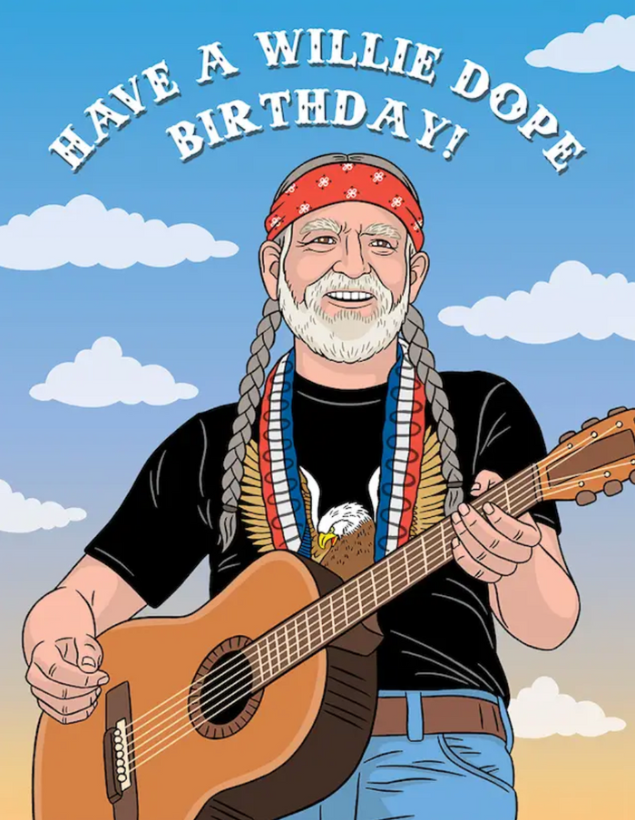 TFND Have a Willie Dope Birthday Card