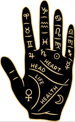 TFND Palm Reading Hand Sticker -  - Sticker - Feliz Modern
