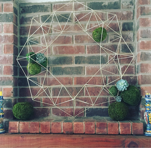 ACD Wire Geo Wreath  (curbside only, no shipping) -  - Wreath - Feliz Modern