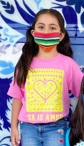 MMF SA is Amor Kid Shirts -Pink and Yellow