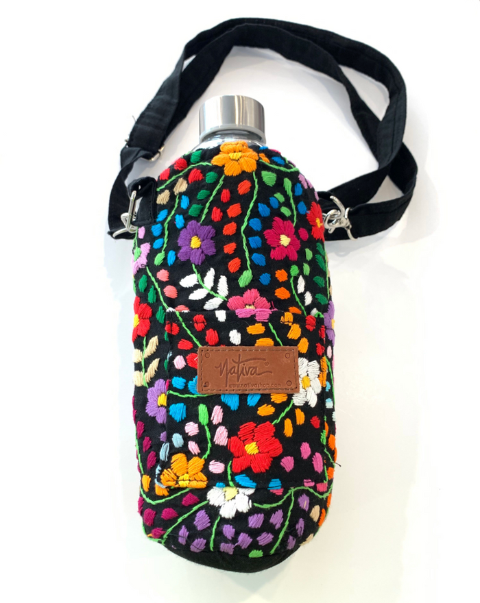 NTSS Embroidered Water Bottle Holder with Strap