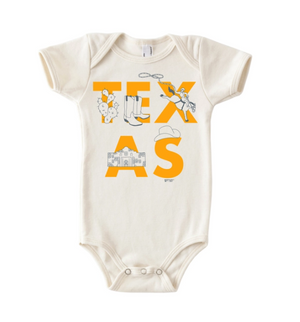 MPT Texas Font One-Piece -  - Baby Clothing - Feliz Modern