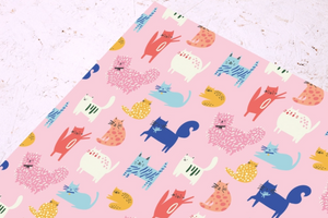 RUCA Cute Cats Wrapping Paper -  - Gift Wrap - Feliz Modern