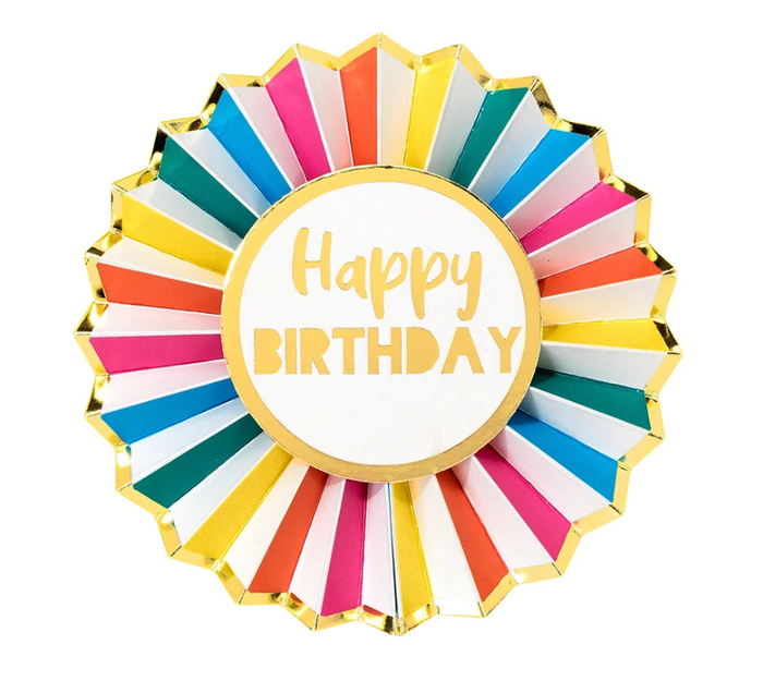 TTA Rainbow Brights Happy Birthday Badge
