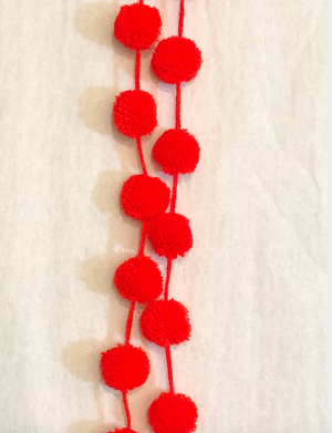 DAI Single Colored Pom Strand - Hot Cheeto - Hanging Decoration - Feliz Modern