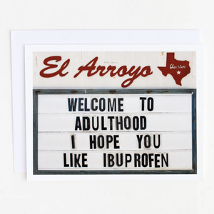 CPC Welcome To Adulthood Card -  - Card - Feliz Modern