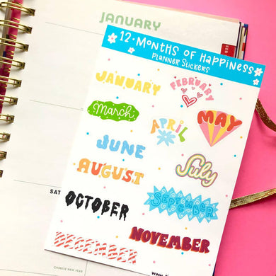 SYB Monthly Planner Stickers