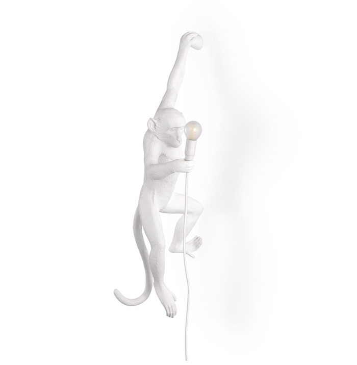 SLTI Hanging Monkey Lamp (curbside only, no shipping)