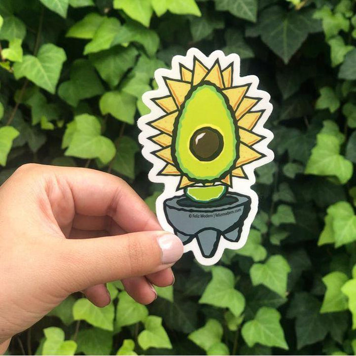 FMD virgen avocado sticker