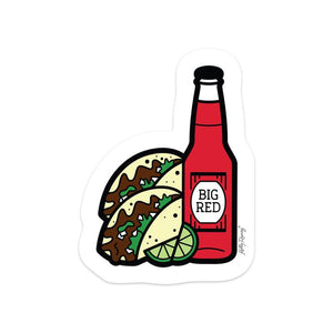 KRE Barbacoa Taco and Big Red Sticker -  - Sticker - Feliz Modern