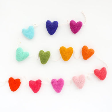 KAC Felt Rainbow Heart Garland