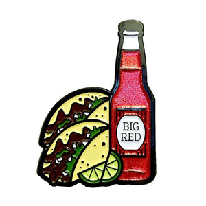 KRE Barbacoa and Big Red Enamel Pin -  - Pin - Feliz Modern