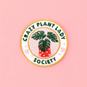 BLS Crazy Plant Lady Society Iron-on Patch -  - Patch - Feliz Modern