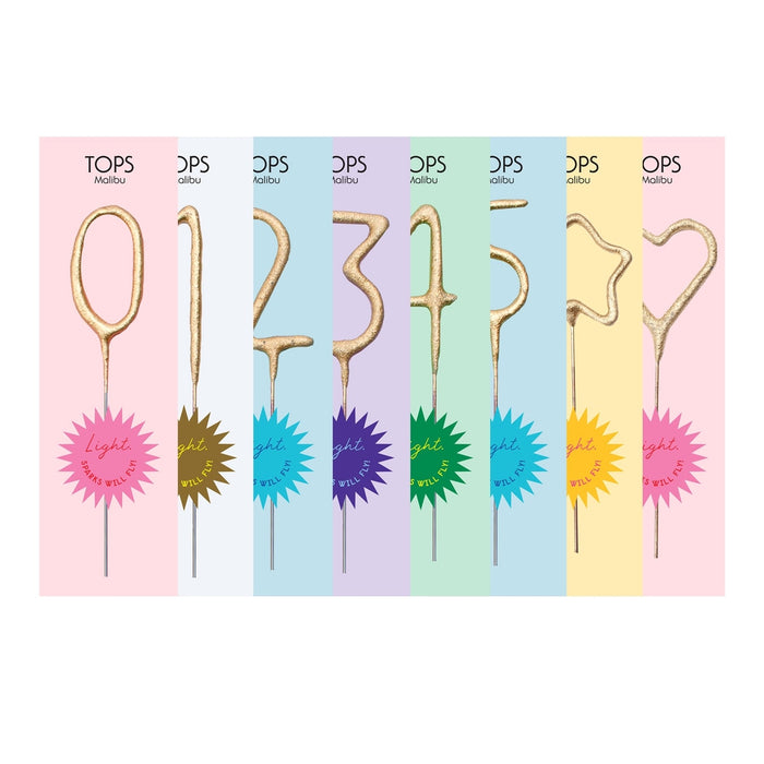TOP mini sparkler candle numbers