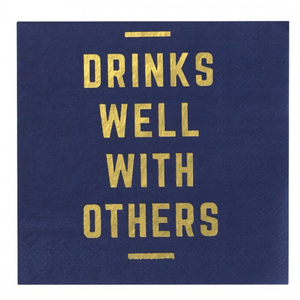 CRG Drinks Well With Others Cocktail Napkin - 20ct -  - Napkin - Feliz Modern