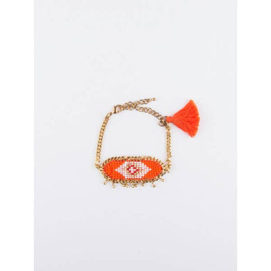 MATR Kira Beaded Orange Bracelet