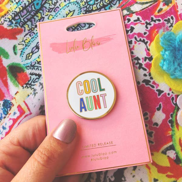 LLBL Cool Aunt Rainbow Pin