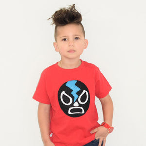 MCL Red Luchador Toddler Shirt -  - Kids Clothing - Feliz Modern
