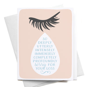 ONKS So Sorry for Your Loss Teardrop Greeting Card -  - Card - Feliz Modern