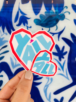 FMD Love Y'all sticker (two sizes) -  - Sticker - Feliz Modern