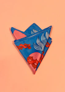 MPI Blue and Pink Sacred Heart Pocket Square