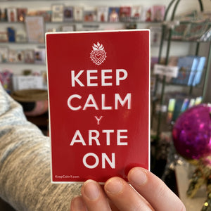 SOSA Keep Calm y Arte On Sticker -  - Studio - Feliz Modern