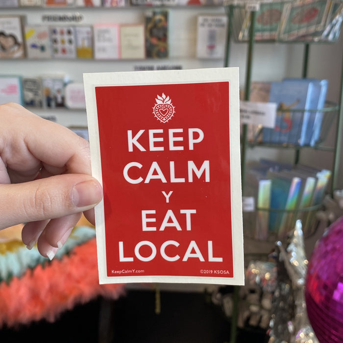 SOSA Keep Calm y Eat Local Sticker