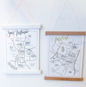 WWG San Antonio Map -  - Art - Feliz Modern
