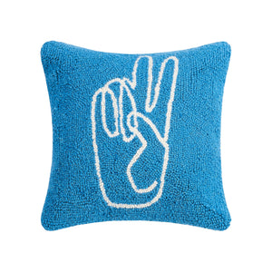 PEKH Peace Hand Pillow (Curbside only, no shipping) -  - Pillow - Feliz Modern