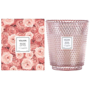 VLSPA  ROSE OTTO 5 WICK HEARTH CANDLE  (curbside only, no shipping)