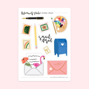 BWS Snail Mail Sticker Sheet -  - Sticker Sheet - Feliz Modern
