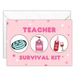 CSGC Teacher Survival Kit Card -  - Card - Feliz Modern