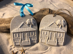 Beach Cottage House Sand Ornament